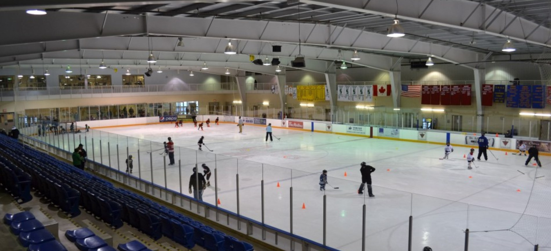 Skaters on ice rink at Shores Recreation Centre
